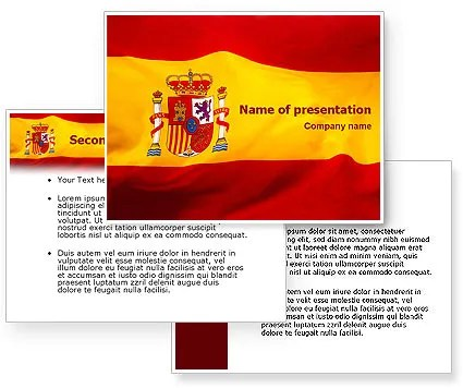 Spanish Flag Powerpoint Template Backgrounds For Presentation - religious brochure