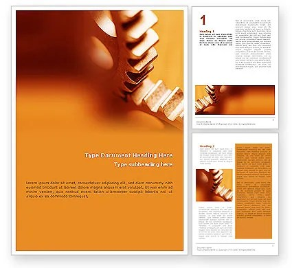Gear Word Template 01959 PoweredTemplate