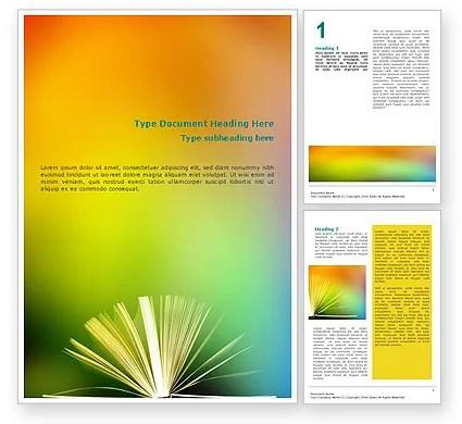 Book Word Template 02010 PoweredTemplate