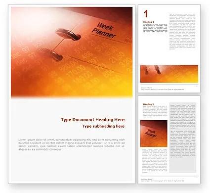 Business Diary Word Template 02118 PoweredTemplate