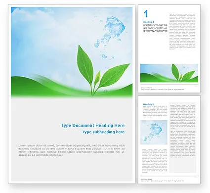 Pure Nature Word Template 02183 PoweredTemplate