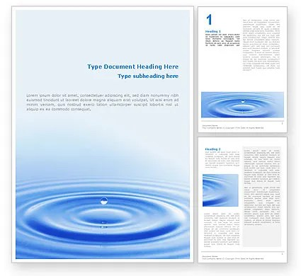 Water Purification Word Template 02190 PoweredTemplate - template word