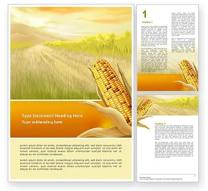 Free Corn Thanksgiving Word Template 02821 PoweredTemplate