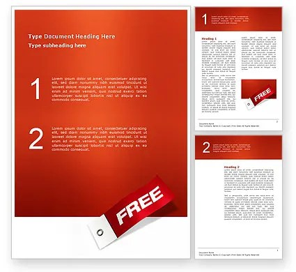 Label Free Word Template 02865 PoweredTemplate