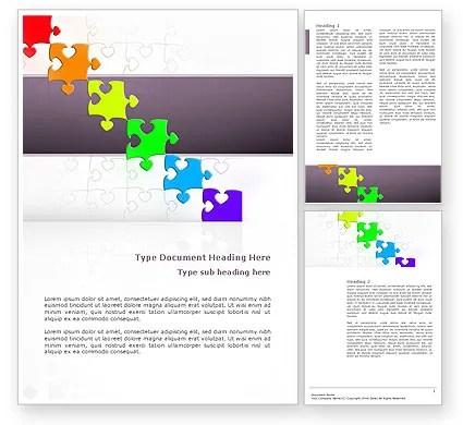 Fancy Jigsaw Word Template 02895 PoweredTemplate