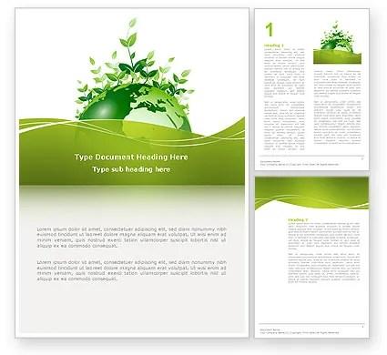 Green Environment Word Template 03091 PoweredTemplate