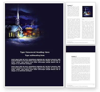 Free Christmas Evening Word Template 04148 PoweredTemplate