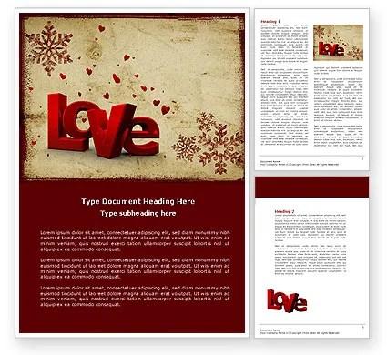 Free Christmas Love Word Template 04198 PoweredTemplate - free christmas word templates