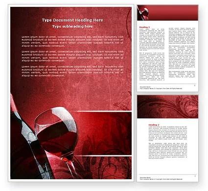 Wine Glass Word Template 04235 PoweredTemplate
