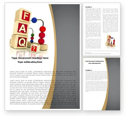 FAQ Word Template 04852 PoweredTemplate