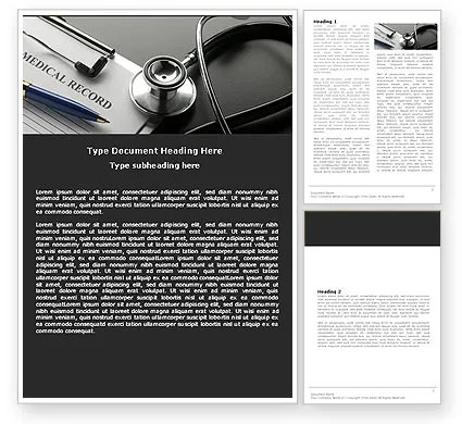 Medical Record Blank Word Template 05110 PoweredTemplate - Medical Templates For Word