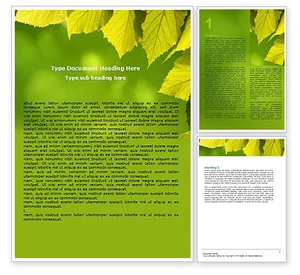 Free Early Fall Word Template 06276 PoweredTemplate