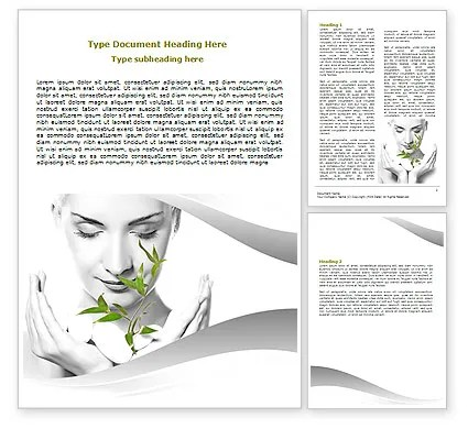 Bio Cosmetics Word Template 07032 PoweredTemplate - microsoft word biography template