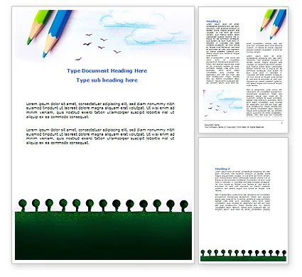 Drawing Notepad Word Template 07169 PoweredTemplate - notepad template for word
