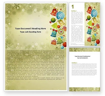 Christmas Holiday Theme Word Template 07273 PoweredTemplate