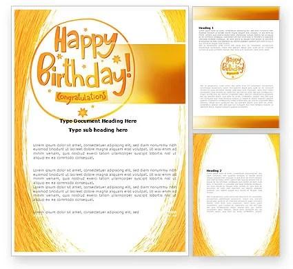 Happy Birthday Card Word Template 07278 PoweredTemplate