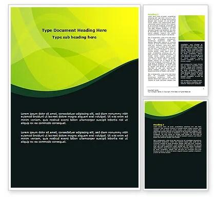 Green Leaf Design Word Template 07623 PoweredTemplate - template word