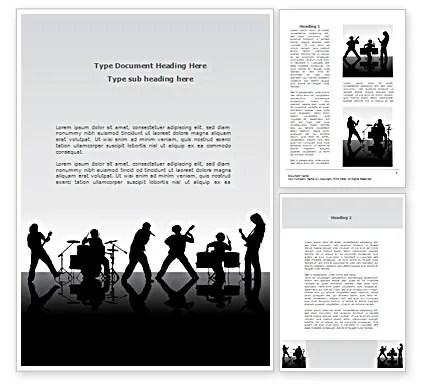 Music Band Word Template 08218 PoweredTemplate