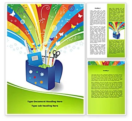 School Stationery Word Template 08254 PoweredTemplate - stationery for word documents