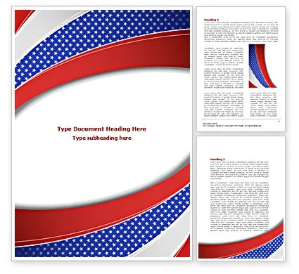 Elections Theme Word Template 08290 PoweredTemplate - Ms Word Cover Page Templates Free Download