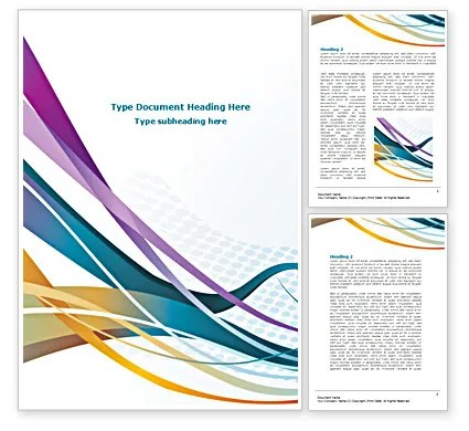 Color Ribbons Word Template 08342 PoweredTemplate - template word