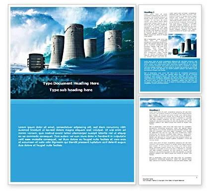 Natural Disaster Word Template 08590 PoweredTemplate
