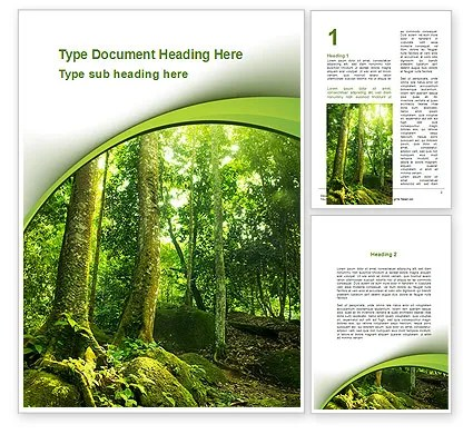 Trees in the Forest Word Template 09985 PoweredTemplate