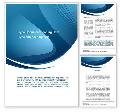 Curved Blue Word Template 10288 PoweredTemplate