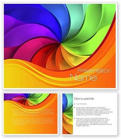 Rainbow Swirl PowerPoint Template, Rainbow Swirl Background for - rainbow powerpoint