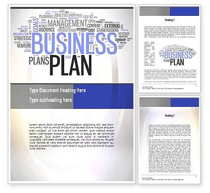Business Plan Word Cloud Word Template 10888 PoweredTemplate