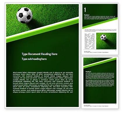 Soccer Ball Near Line Word Template 11039 PoweredTemplate