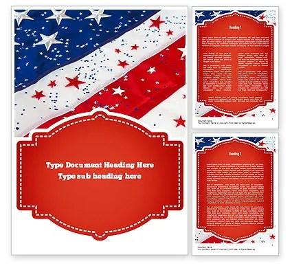 Festive American Flag Word Template 11323 PoweredTemplate - american flag background for word document