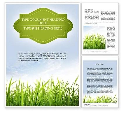 Nature Word Template 11348 PoweredTemplate