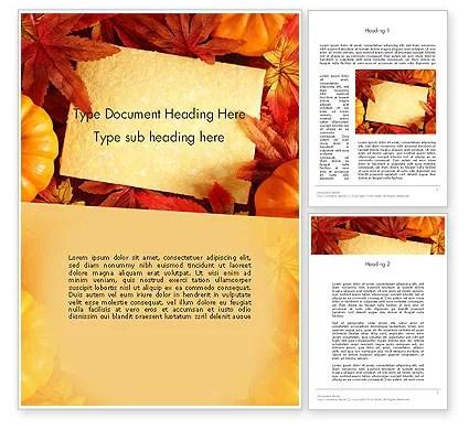 Thanksgiving Card Word Template 12702 PoweredTemplate