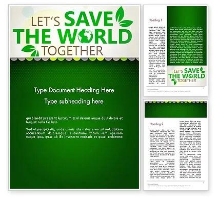 Save Nature Theme Word Template 12906 PoweredTemplate