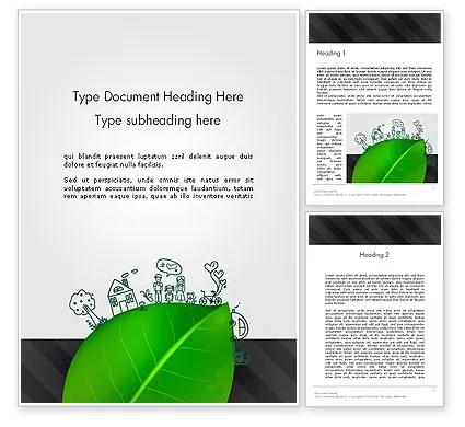 Green Environment Concept Word Template 13072 PoweredTemplate