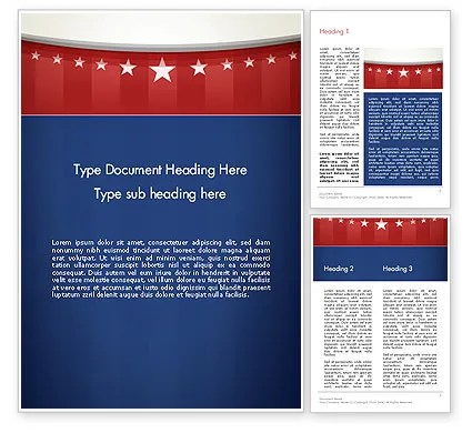 American Flag Stylized Background Word Template 13278 - american flag background for word document