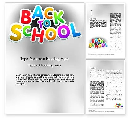 Welcome Back To School Word Template 14097 PoweredTemplate - welcome back template