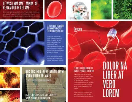 Nanotechnology In Medicine Brochure Template Design and Layout - Medical Brochure Template