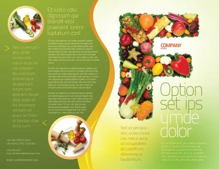 Food Brochure Template Design and Layout, Download Now, 05225