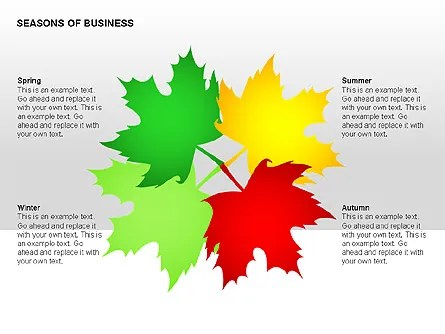 Seasons of Business Shapes for PowerPoint Presentations, Download