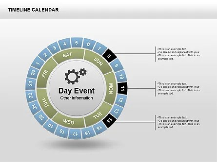 Timeline Calendar for PowerPoint Presentations, Download Now 00346
