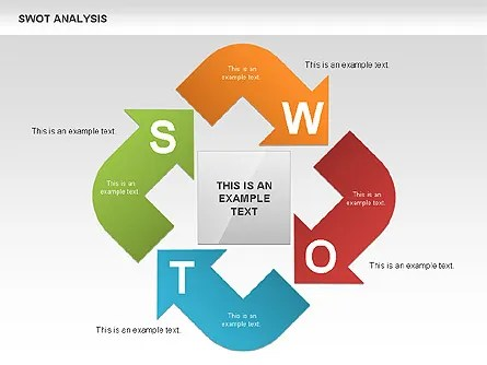 SWOT Analysis Process Diagram for PowerPoint Presentations, Download