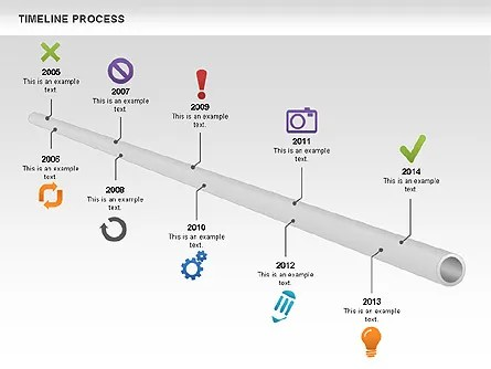 Tube Timeline Process Toolbox for PowerPoint Presentations, Download