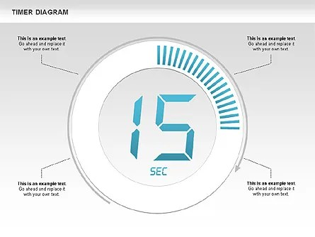 Digital Timer Diagram for PowerPoint Presentations, Download Now