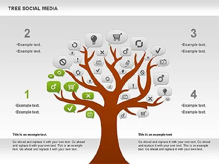 Social Media Tree Diagram for PowerPoint Presentations, Download Now