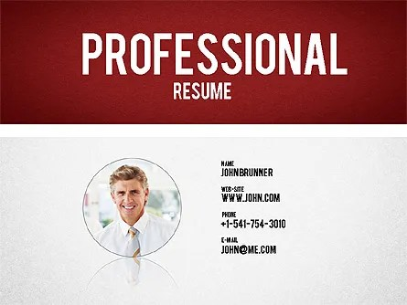 Professional Resume Template for PowerPoint Presentations, Download
