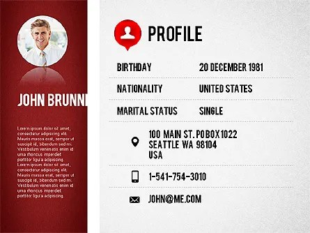 Professional Resume Template for PowerPoint Presentations, Download - powerpoint resume
