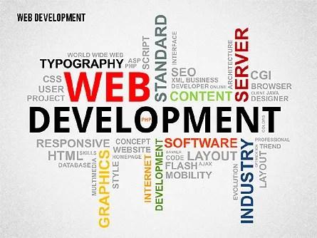 Web Development Word Cloud for PowerPoint Presentations, Download