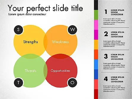 SWOT Analysis Presentation Template for PowerPoint Presentations